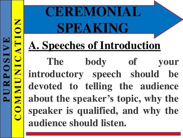 how to write a goodwill speech