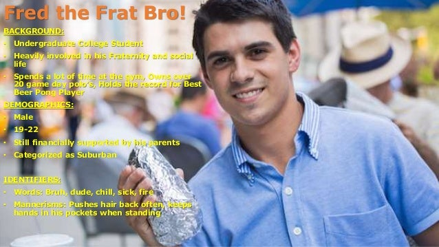 persona fred the frat bro