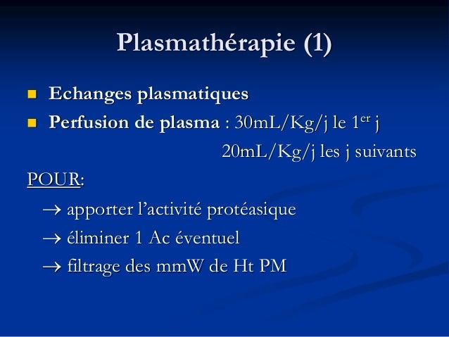 Ttts associés  les anti-aggrégants (si Pl>50 000)  les corticoïdes  Les immunosupuppresseurs (Rituximab: MABTHERA)  La...