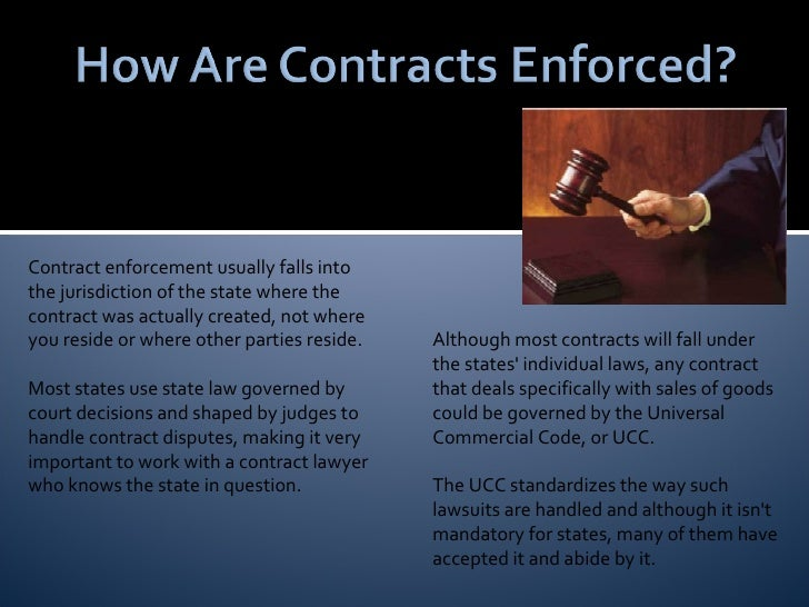 Contract Enforcement ...
