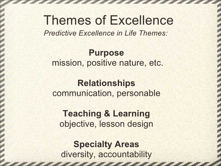 Pursuit Of Excellence Staff Selection