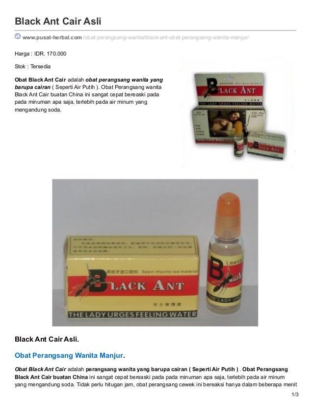 black ant cair asli obat perangsang wanita manjur