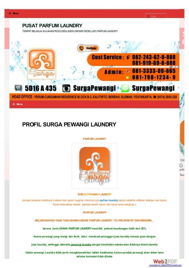 PROFIL SURGA PEWANGI LAUNDRY PARFUM LAUNDRY SURGA PEWANGI LAUNDRY (tempat produksi distributor kulakan toko grosir supplie...