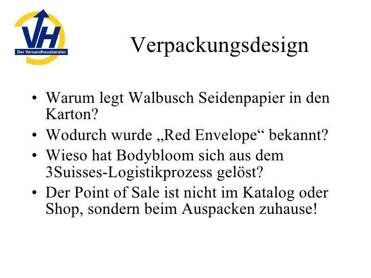"Verpackungsdesign <ul><li>Warum legt Walbusch Seidenpapier in den Karton? </li></ul><ul><li>Wodurch wurde ""Red Envelope"" b..."