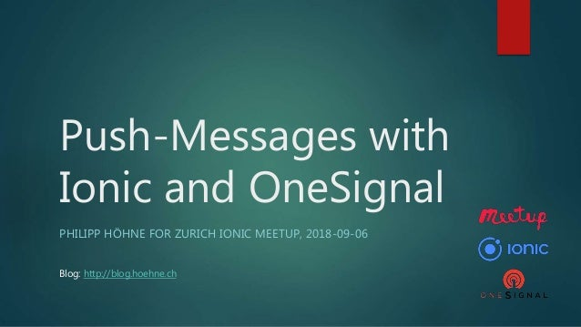 Push messages with Ionic and OneSignal