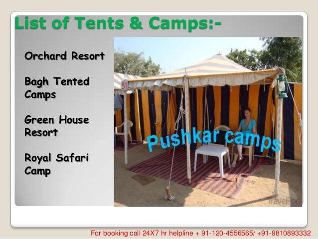 ... 3. List of Tents ... & Pushkar tent accommodation
