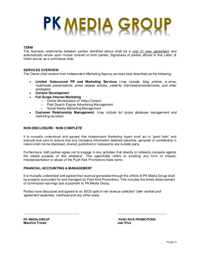 Marketing Services Contract Template. digital marketing resume ...