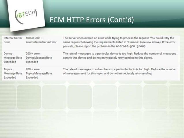 FCM XMPP API • @ fcm-xmpp.googleapis.com:5235 • asyncronous • supports single recipient only • bidirectional • returns del...