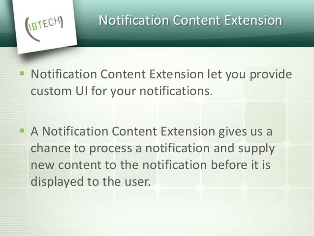 Notification Content Extension  How to add content extension to your application?