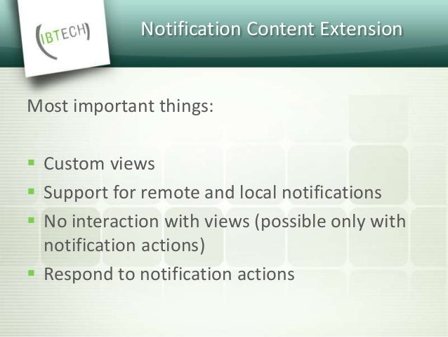 Notification Content Extension  Add a new target to your project