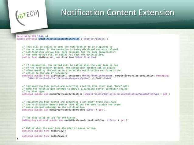 Notification Actions  You can add up to four actions and each action is encompassed in a 'category'.