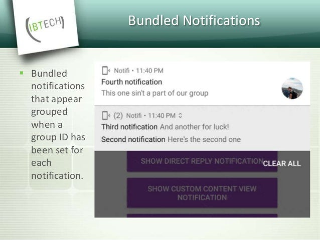 Custom View Notifications  We can now use custom views for notifications These can be for both collapsed and expanded not...