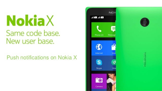 Push notifications on Nokia X