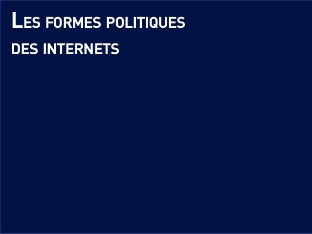 Les formes politiques des internets