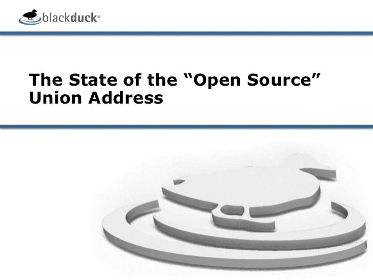 """The State of the """"Open Source"""" Union Address<br />"""