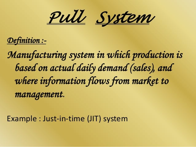 Push Vs Pull Advantages Amp Disadvantages