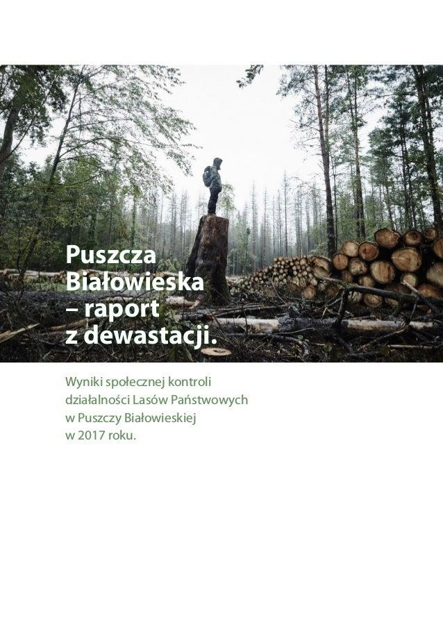 Puszcza Białowieska – raport z dewastacji. Wyniki społecznej kontroli działalności Lasów Państwowych w Puszczy Białowieski...