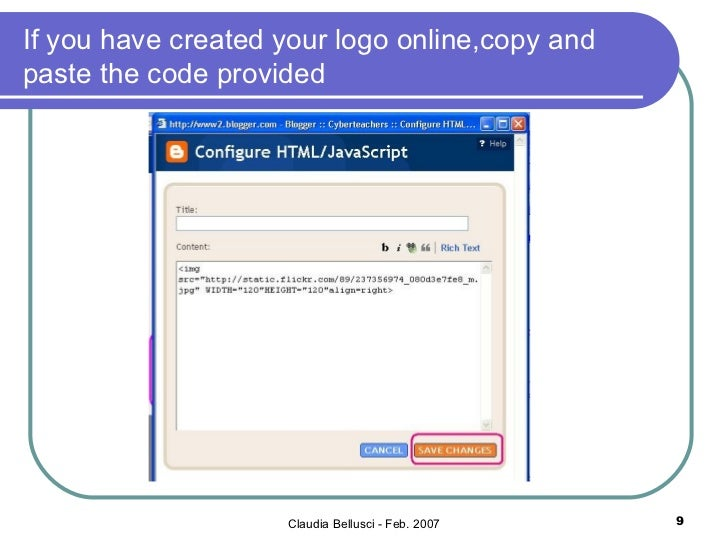 how to add logo in html header