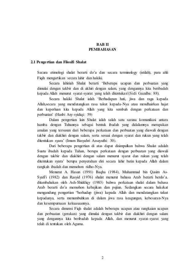 Makalah Agama Islam Filosofi Sholat Pdf Slideshare