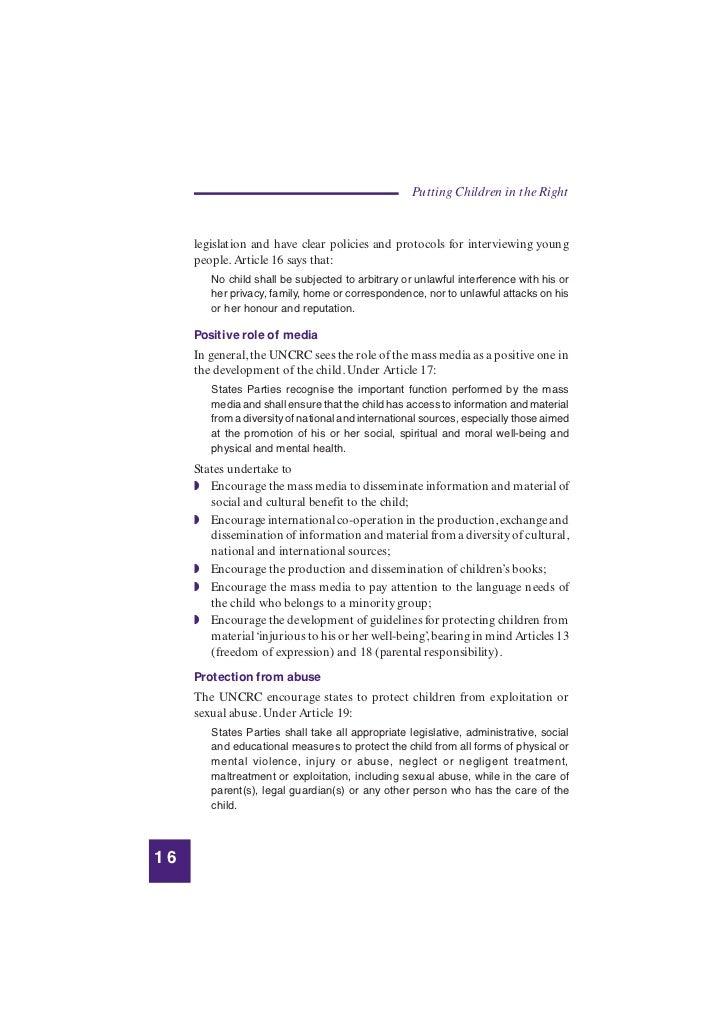 Children's advocacy guidance