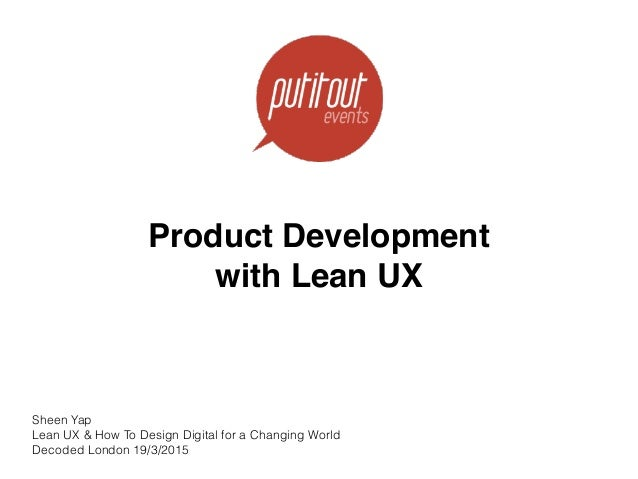 Product Development with Lean UX