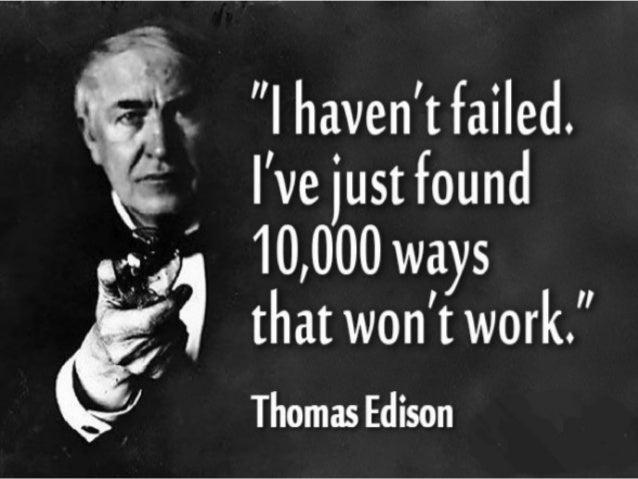 Attitude to failure