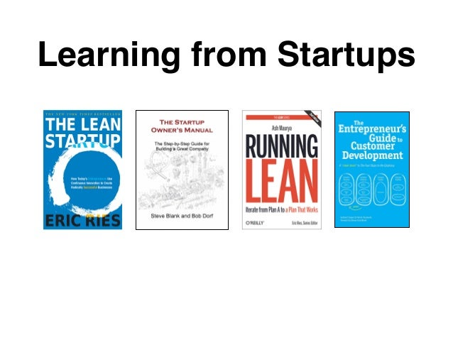 Learning from Startups