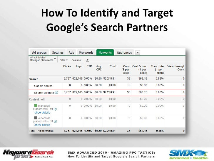 How To Identify and Target Google's Search Partners<br />