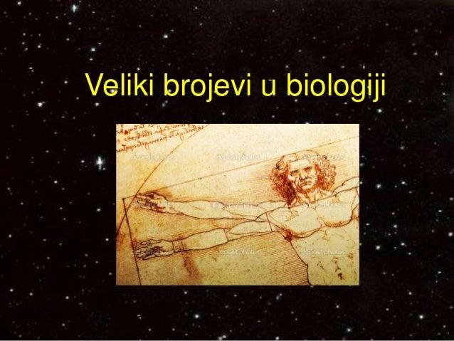 Veliki brojevi u biologiji