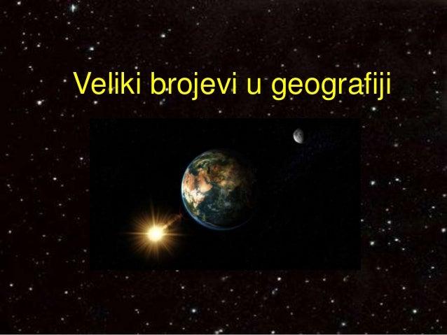 Veliki brojevi u geografiji