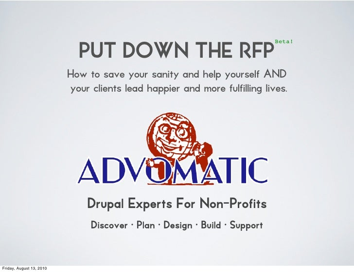 PUT DOWN THE RFP                                                                             Beta!                        ...