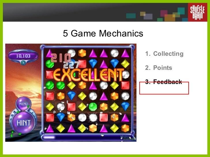 5 Game Mechanics <ul><li>Collecting </li></ul><ul><li>Points </li></ul><ul><li>Feedback </li></ul>