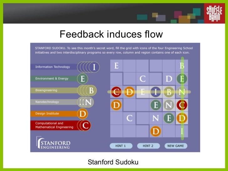 Feedback induces flow Stanford Sudoku