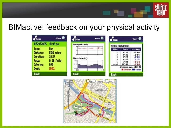 BIMactive: feedback on your physical activity