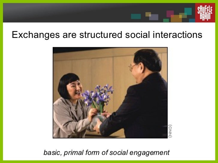 Exchanges are structured social interactions basic, primal form of social engagement