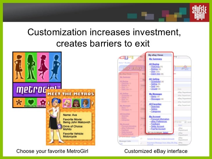 Customization increases investment, creates barriers