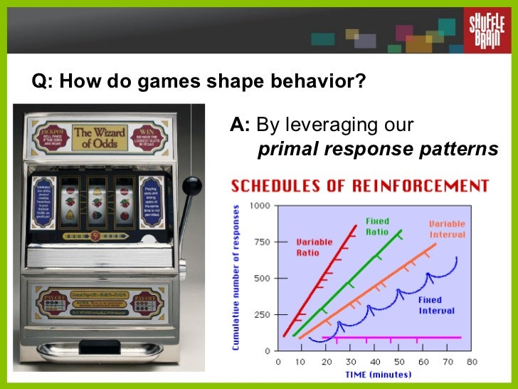 Q: How do games shape behavior? A:  By leveraging our    primal response patterns