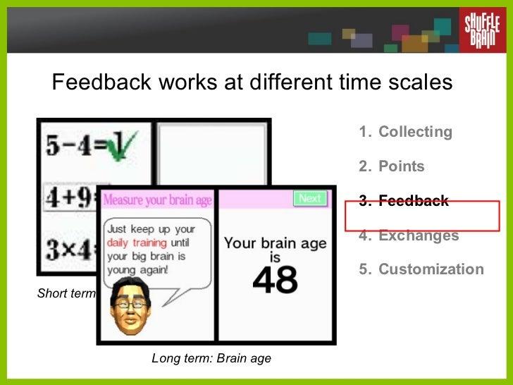 Feedback works at different time scales <ul><li>Collecting </li></ul><ul><li>Points </li></ul><ul><li>Feedback </li></ul><...