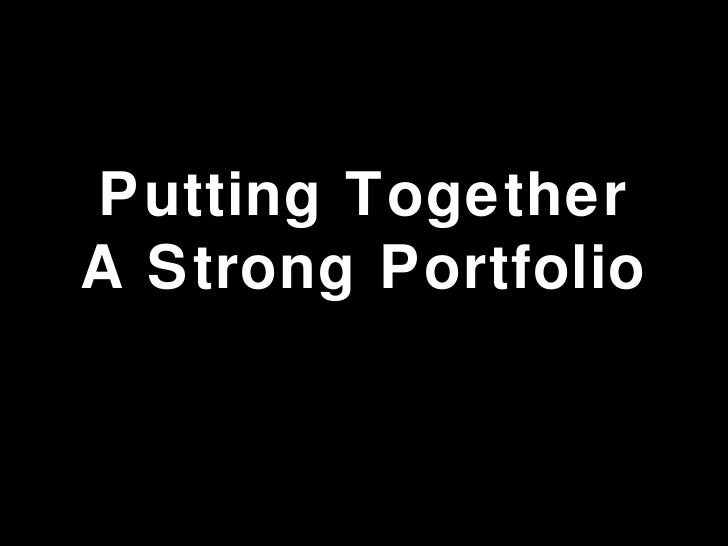 Putting Together A Strong Portfolio Professional Services