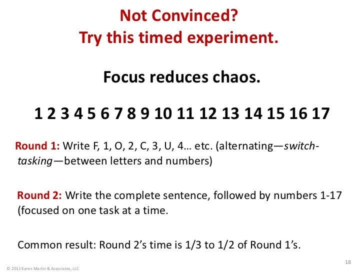 Not Convinced?                                        Try this timed experiment.                                          ...