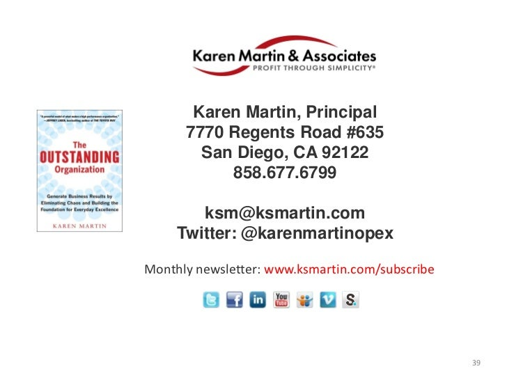 Karen Martin, Principal      7770 Regents Road #635        San Diego, CA 92122           858.677.6799        ksm@ksmartin....