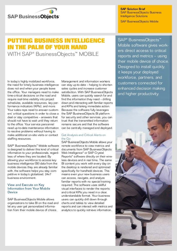 SAP Solution Brief                                                                                            SAP Business...