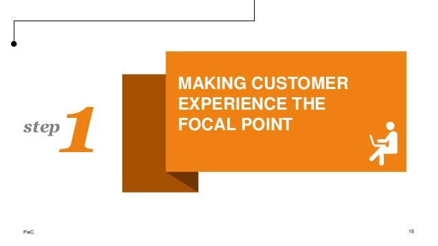 1step 15 MAKING CUSTOMER EXPERIENCE THE FOCAL POINT PwC