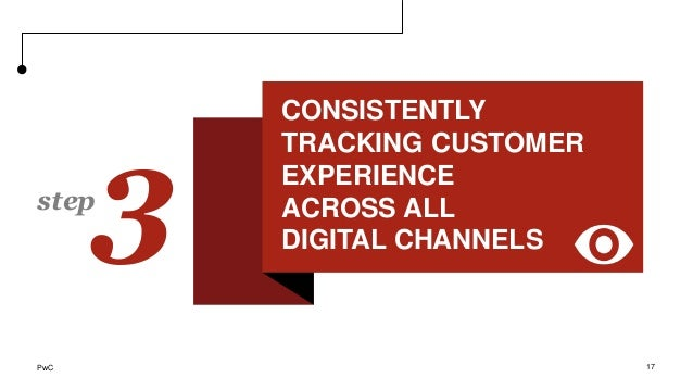 Creating tailored digital experiences to customer needs 17 3step CONSISTENTLY TRACKING CUSTOMER EXPERIENCE ACROSS ALL DIGI...