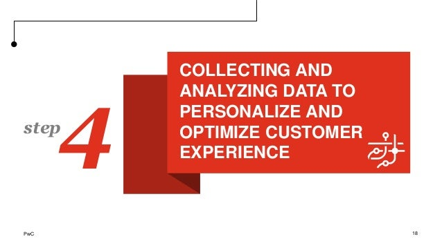 COLLECTING AND ANALYZING DATA TO PERSONALIZE AND OPTIMIZE CUSTOMER EXPERIENCE 18 4step PwC