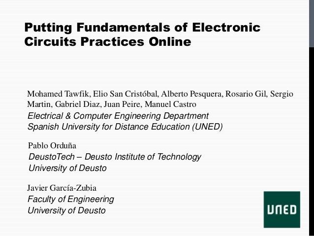 TAEE2012-Putting Fundmentals of Electronic Circuits Practices online