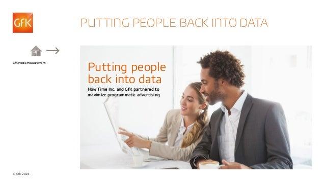 © GfK 2016 GfK Media Measurement PUTTING PEOPLE BACK INTO DATA Putting people back into data How Time Inc. and GfK partner...