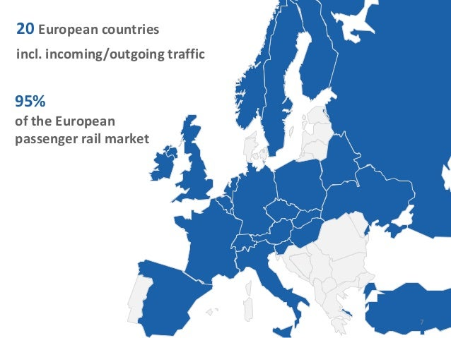 20 European countriesincl. incoming/outgoing traffic95%of the Europeanpassenger rail market7