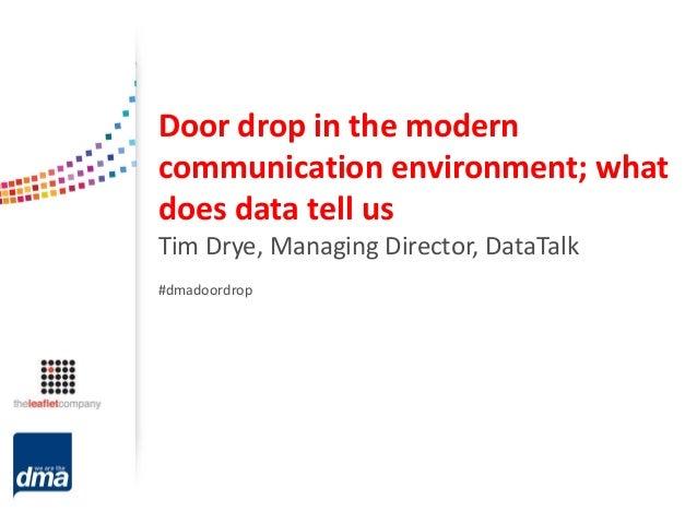 Door drop ...  sc 1 st  SlideShare & Putting the fizz back into door drops - 14 November