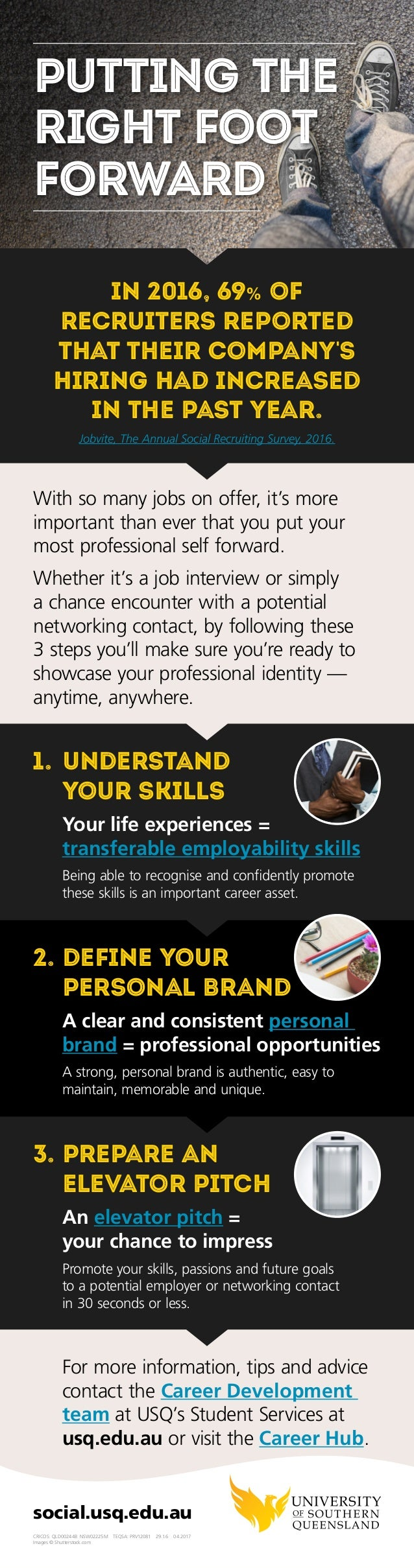 For more information, tips and advice contact the Career Development team at USQ's Student Services at usq.edu.au or visit...